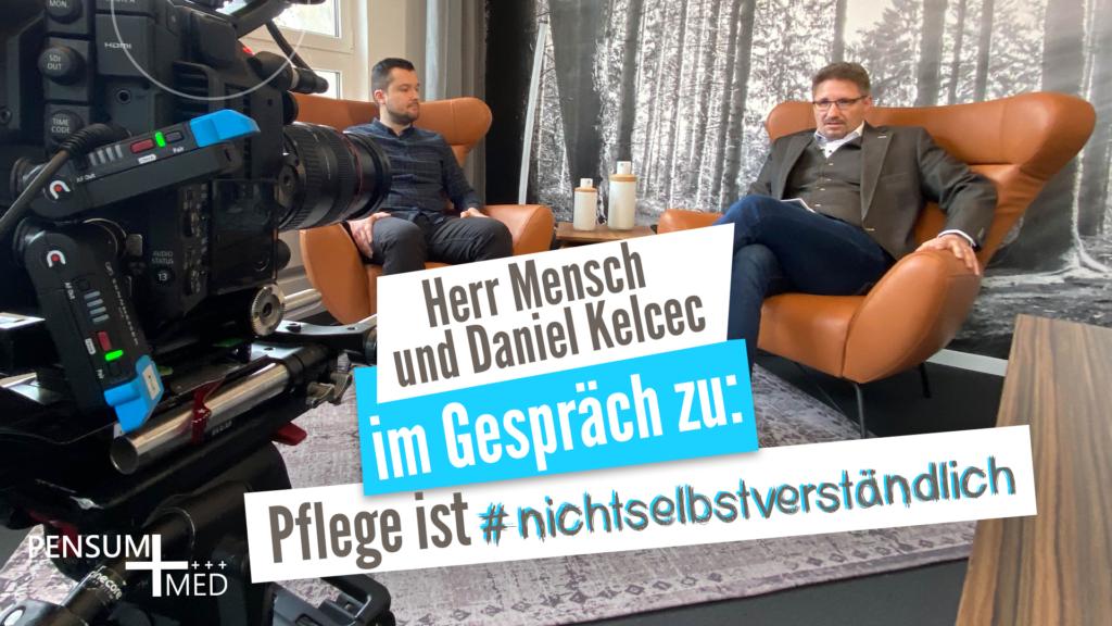 Herr Mensch und Daniel Kelcec im Gespräch